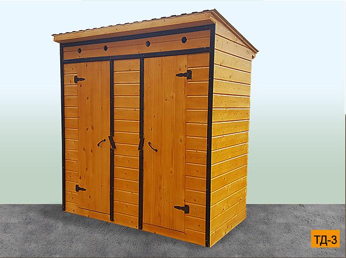 деревянный дачный туалет в Можайском районе