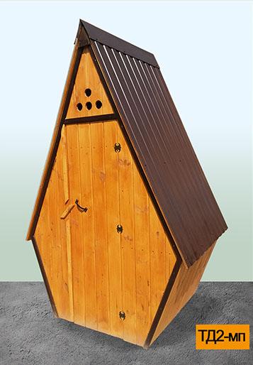 деревянный туалет в Можайске