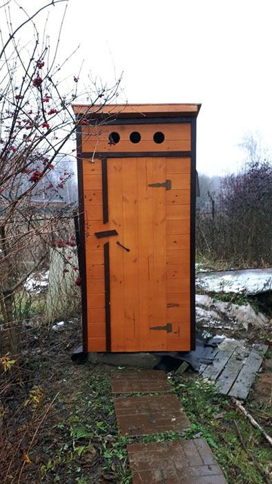деревянные дачные туалеты в Можайске